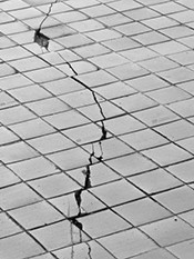 When you see cracks in tile, it may be time to panic just a little.