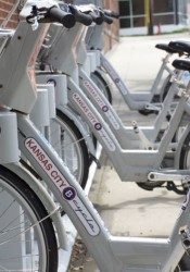 The B Cycle bike sharing program already has 28 stations in Kansas City, including one in Westport.