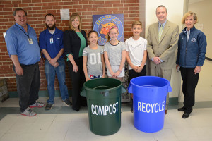 Briarwood students showed off the school's new compost and recycling bins this spring.