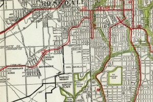 During the last century, a rail transit system ran through Johnson County.