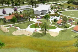 A rendering of one of the play areas at the new Meadowbrook park.