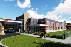Another rendering of a proposed small hospital for Roeland Park.