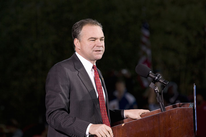 Tim Kaine was among the first officials to endorse Barack Obama back in 2008.