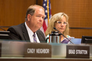 Brad Stratton called for more openness from the board of education on Monday.
