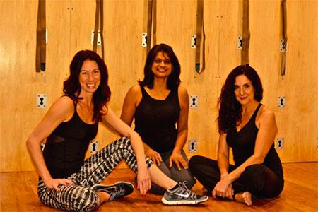 Kristina Stewart (from left), Sushma Patel and Karim Memi Stamati of BodyinSync.