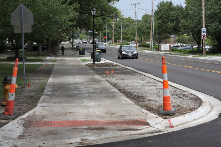 Redesign work on Mission Road in Prairie Village completed except streetscape improvements.