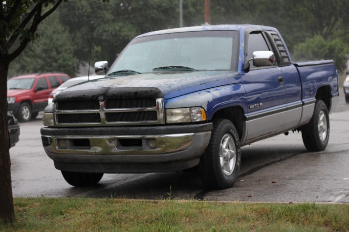 Roeland Park police led effort to get this pickup in shape for the Robbins.
