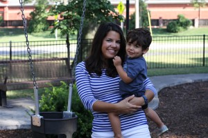 Natalie Chavez was swinging her two-year-old son Atticus when they were forced to flee after a man pulled a handgun at Weltner Park.