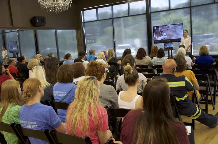 A large crowd showed up for the pit bull education sessions Sunday.