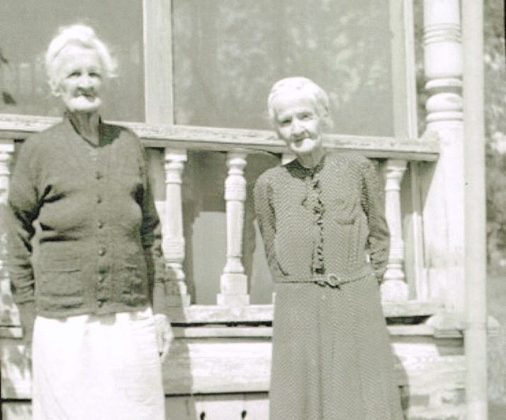 The last two Roe sisters who lived in the house.
