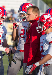 Bishop Miege coach Jon Holmes is hoping his Stags squad can bring home its third 4A-1 in a row.