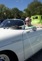 Bob Peters of Prairie Village was showing his vintage 1957 Porsche Speedster.