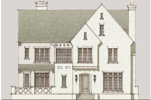 This is a conceptual drawing of one of the many single-family home styles envisioned for Meadowbrook Park