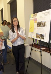 Westwood residents listen to an explanation of the options for land use in the city.