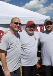 The Pitt Smokers, Justin Smith, Chris Griffith and Jay Seiler, are three friends who met at Pittsburg State. Their team was sponsored by The Bar on Johnson Drive.