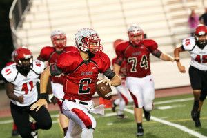 SM North quarterback Will Schneider