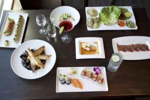A sampling of Blue Sushi menu choices.