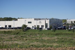 The lot south of the Infiniti dealership could become a new car dealership.