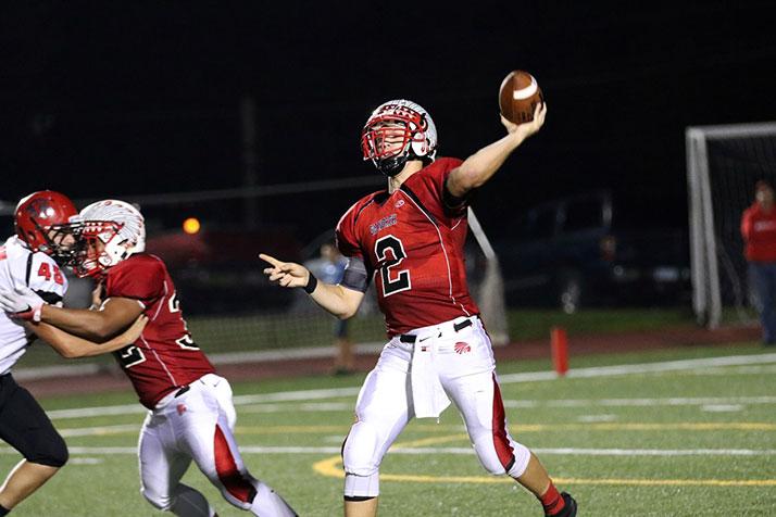 SM North quarterback Will Schneider. Photo by Andrew Poland.