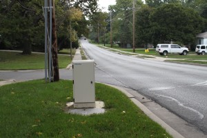 The new state law overrules cities ability to regulate wireless utility boxes like this being located in the public right-of-way.