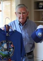 Jim Firebaugh with his Honor Flight gear.