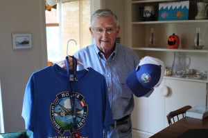 Jim Firebaugh with his Honor Flight gear.
