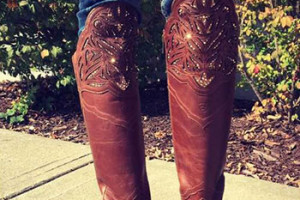 Dottie's Southern Chic Boot-ique features custom boots embellished with Swarovski crystals.
