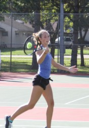 SM East's Sarah Wilcox dominated the competition en route to a singles runner-up showing. Wilcox dropped 12 games during state play, all coming in the finals.