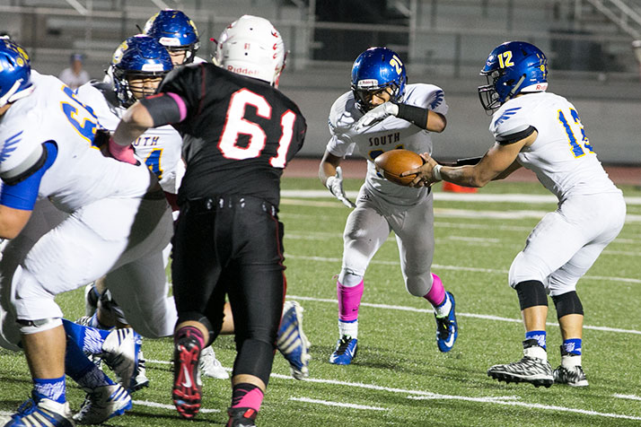 SM North had no answer for Olathe South's offense on Friday.