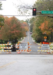 The reopening of 63rd Street through Mission Hills has been delayed until at least Thanksgiving.