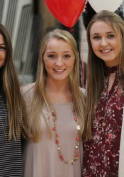 Shawnee Mission East seniors, left to right, Emma Henderson, Ally Offerdahl and Sara Maddox all earned All-Sunflower League honors. Henderson and Offerdahl were named to the first team while Maddox was named to the second team. They helped the Lancers to a third-place state finish in Class 6A.