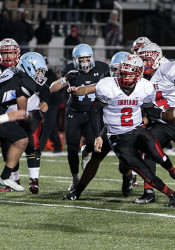 Shawnee Mission North's Will Schneider, No. 2, is a semifinalist for the Simone Award along with Bishop Miege's Jafar Armstrong