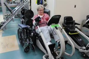 Betty McMahon of Overland Park exercises on equipment reserved for the American Stroke Association Next Step program.