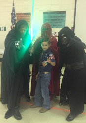 Cub Scout Pack 3597 from Trailwood Elementary had a close election over who was their favorite Star Wars character.