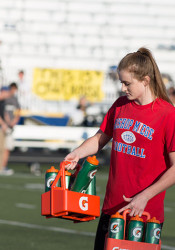 Senior Cailey Grunhard will serve her final game as water girl on Saturday at the Class 4A-I state title game.