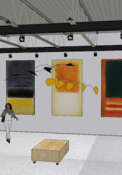 Rendering of the new gallery space planned for the InterUrban Arthouse.