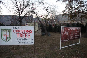 Boy Scout Troop 199 has new energy-efficient LED lights illuminating their Christmas tree lot.