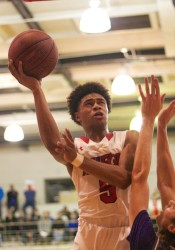 Ezekiel Lopes scored eight points for Bishop Miege on Tuesday night.