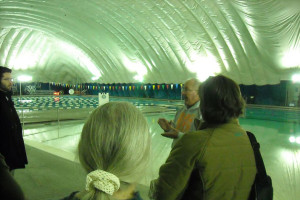 Citizens getting a tour of the dome back in 2014. Photo via Roeland Park on Facebook.