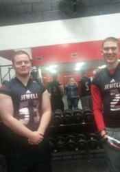 SM North seniors Danny Presler, left, and Will Schneider will continue to be teammates as they'll play for William Jewell starting in the fall. (via @DannyPresler/Twitter)