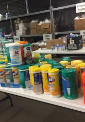 Shawnee Mission East and Shawnee Mission South have teamed up to give basic necessities to Giving The Basics during a four-week competition. (Photo via Giving The Basics/Facebook)