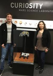Cooper Gilbert (left) and Nagin Cox at the JPL in Pasadena, Calif.