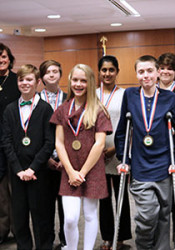 The Award of Excellence winners. Photo via Shawnee Mission School District.