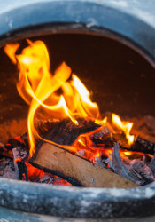 Recreational fires in chimineas and pits are prohibited under the burn ban that went into effect Monday.