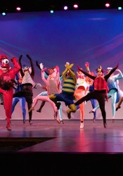 "SM South Theatre preforms ""Under the Sea"" during dress rehearsal."